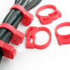 Kabel Clips Cord Ring - Clamp - CC-901 - Isi 6 - Warna Merah
