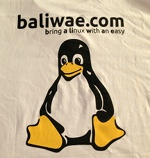 Kaos Baliwae: Bring a Linux With an Easy - Putih