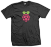 Kaos Raspberry Simple - Black