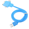 Kabel Data Charger Multifungsi - Noodle Style - Blue - UNT-F8 - for Note 3, S5, iPhone 5/s, Ipad Mini, iPad 4, iPad 5, iPad air, 4G, 3GS, Micro USB