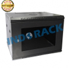 INDORACK WR5008S - Wallmount Rack Server 8U Single Door - 19inch - Hitam
