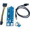 PCI Riser Sata To 6 Pin - 4 Kapasitor Solid - USB PCI-E 1x To 16x - Riser Card - Versi 7