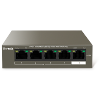 TENDA TEF1105P - 5 PORT 10/100Mbps - 4 Port PoE + 1 Port Uplink - PoE Switch - 58 Watt