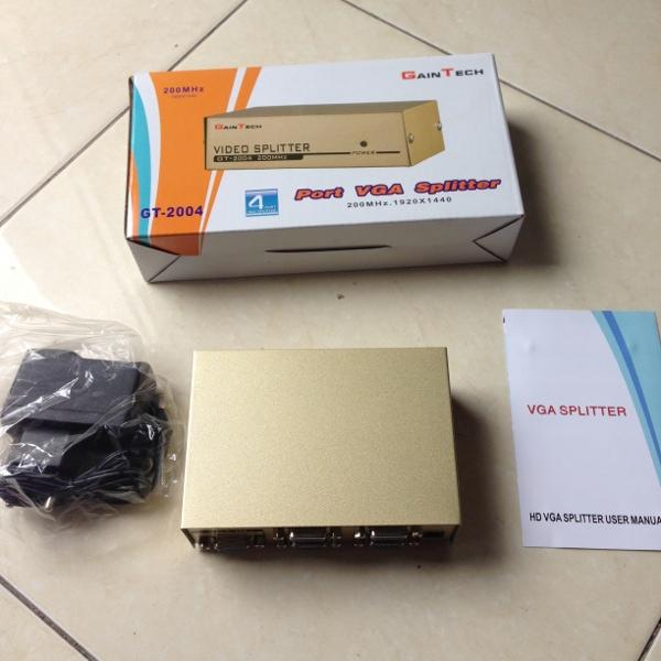 Jual Gain Tech Video Splitter Vga Splitter 1 4 4 Port